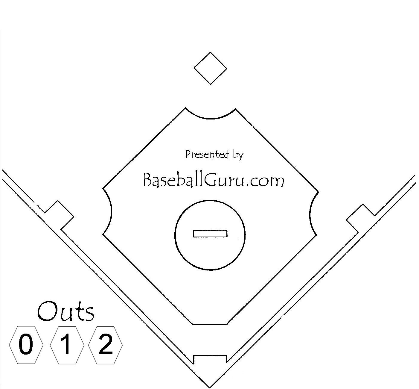 coloring book pages baseball field - photo#6