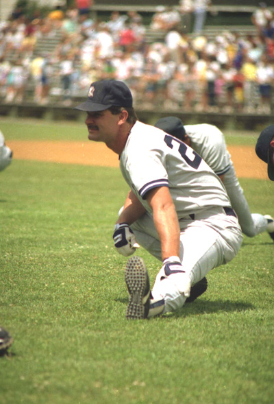 Don Mattingly stretching